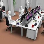 Postazioni operative con scrivania da 160x80