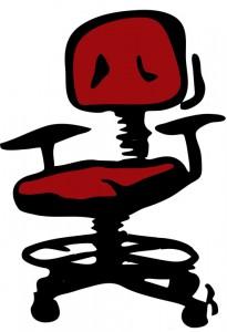 La sedia da ufficio nell'immaginario comune