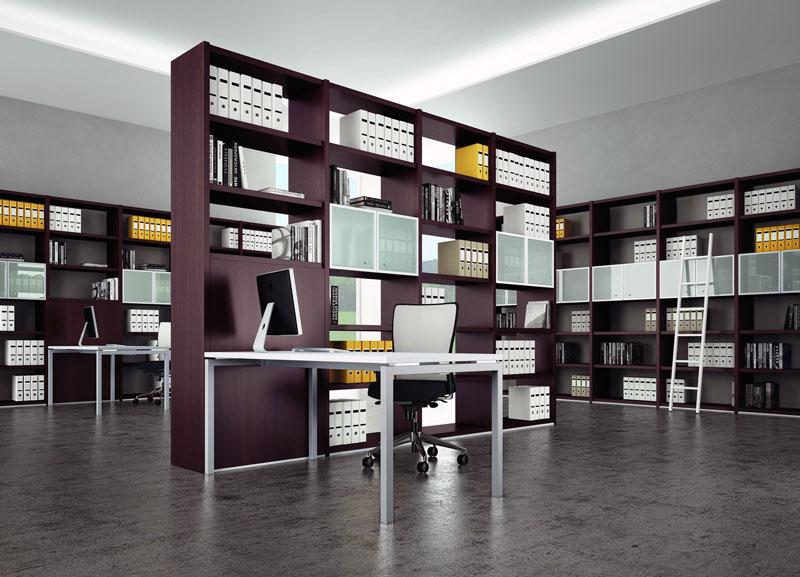 Quadrifoglio Mobili Per Ufficio.La Libreria Per Ufficio E L Elemento Che Soddisfa Funzionalisti E