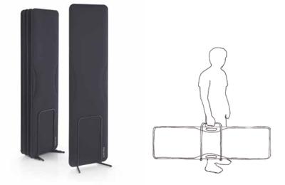 La fonoassorbenza diventa portatile: utile per musicisti, cantanti e... relatori di ogni campo.