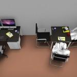 Postazioni operative con scrivania da 140x80 e 80x80