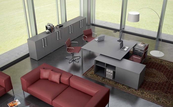 Se lavorate spesso in gruppo, una scrivania come questa potrebbe essere un buon compromesso tra una postazione di lavoro singola e un piccolo tavolo riunioni. [Yoga, About Office]